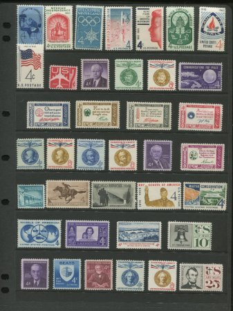 Complete Mint Set Of Postage Stamps Issued In The Year 1960 By The U S  Post Office Dept