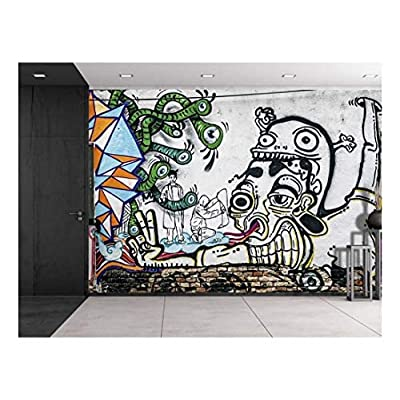 Colorful Graffiti Large Wall Mural Removable Peel and Stick Wallpaper, Created Just For You, Marvelous Craft