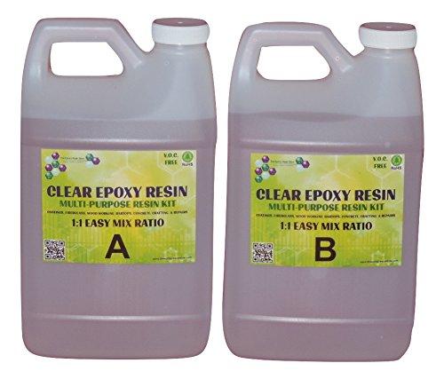 EPOXY RESIN FIBERGLASS CONCRETE COATING - 2 gallon kit