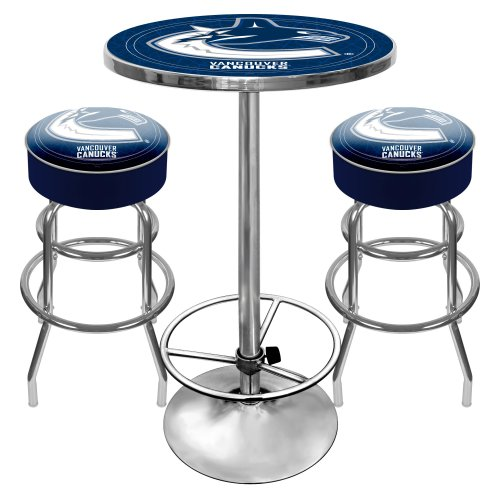 NHL Vancouver Canucks Ultimate Gameroom Combo - 2 Bar Stools & Pub Table ()
