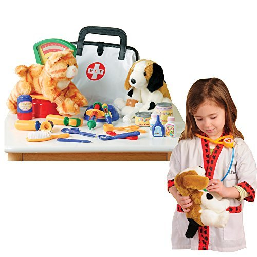 UPC 649829202587, CP Toys Pretend Play Veterinarian 30 Pc. Playset with Child-sized Lab Coat by Constructive Playthings