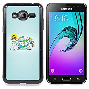Stuss Case / Funda Carcasa protectora - Inteligente Pequeño Verde Naturaleza - Samsung Galaxy J3 GSM-J300