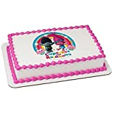 Whimsical Practicality Trolls Licensed Birthday- Edible Cake/Cupcake Party Topper!!! (7.5 Inch Round)