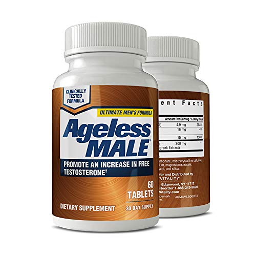 New Vitality Ageless Male Testosterone Booster Tablets, 60 Count (Pack of 1) ()