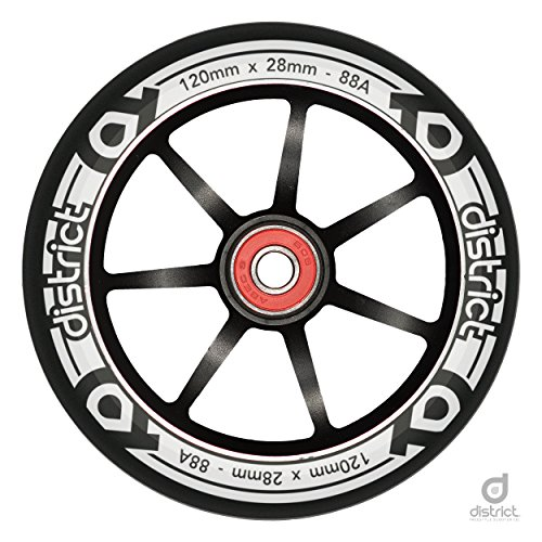 District HT-Series Pro Scooter Wheels 120mm x 28mm (Black)