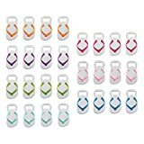 QLL 28 Pcs Special ''pop the Top'' Flip-flop Bottle Opener for Wedding Favors