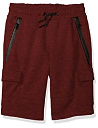 Southpole boys Big Boys Tech Fleece Shorts With Cargo Pockets in Solid Color