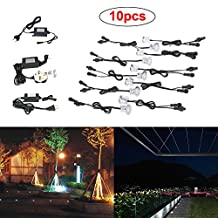 Docooler 10Pcs LED Deck Lights IP67 Outdoor Waterproof LED In-ground Lights Home Garden Stair Yard Lights