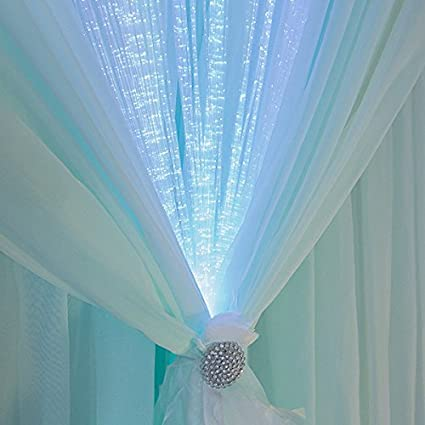 Deluxe Led Fiber Optic Curtain 8Ft X 3Ft