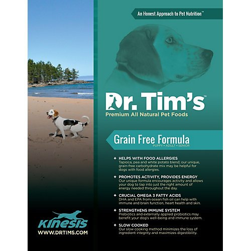 Dr. Tim's Premium All Natural Pet Foods All Life Stages Grain Free Dog Food, 15-Pound
