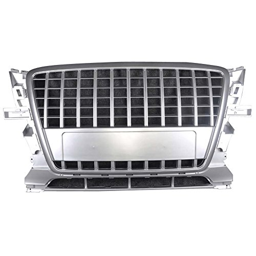 Grille Fits 2009-2011 Audi Q5 | Vertical Style ABS Plastic Silver Front Bumper Grill Hood Mesh by IKON MOTORSPORTS | 2010 (Audi Q5 Grill)