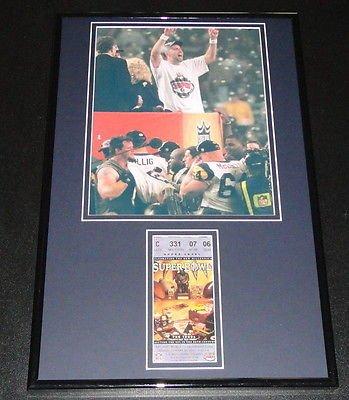 Kurt Warner Framed Super Bowl XXIV Repro Ticket & Photo Display Rams - Kurt Warner Photos