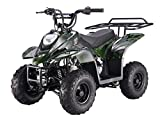 110cc ATV Four Wheelers Fully Automatic 4 Stroke Engine 6 Inch Tires Quads for Kids Green Camo