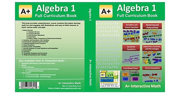 Algebra 1 (8th or 9th Grade) Math Textbook - 135 Lessons (598 ...