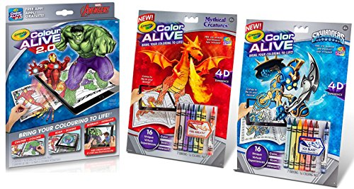 Compare price color alive skylanders on for Crayola color alive action coloring pages mythical creatures