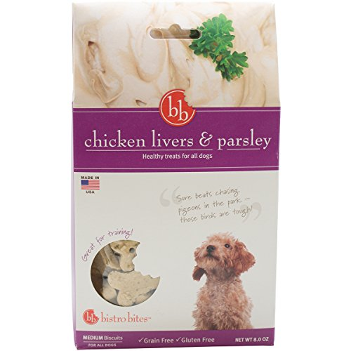 Bistro Bites By Fetch For Pets, Chicken Liver & Parsley Dog Treats, 4 Oz.
