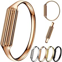 KOBWA Fashion Stainless Steel Accessory Bangle Watch Band Wrist Strap For Fitbit Flex 2