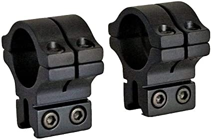 2 Piece 1 Long Double Strap Dovetail High Scope Mount BKL-263H 1 inch