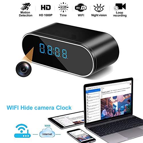 Luxnwatts Hidden Camera Clock WiFi Spy Camera