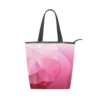 Pink Earrings For Women Women s Canvas Iconic Large Handbag Shoulder Iconic  Cotton Canvas Zipper Gym Beach b448ade96ea48