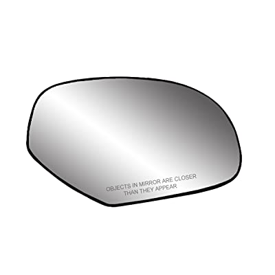 Fit System 30204 Passenger Side Heated Replacement Mirror Glass with Backing Plate: Automotive