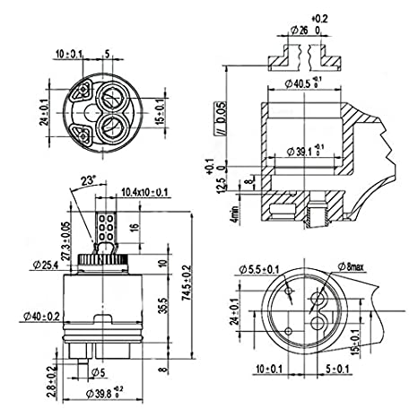 Ownace 35mm Ceramic Disc Plastic Bathroom Basin Shower Lever Mixer