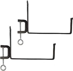 Achla Designs SFB-03C, 10 inch Railing clamp Window Flower Box Brackets, Black