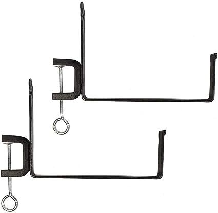Achla Designs SFB-03C 10 inch Railing clamp Window Flower Box Brackets Black