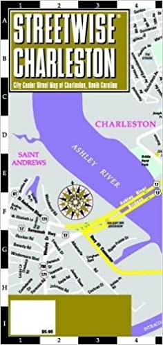 Streetwise Charleston Map Laminated City Center Street Map of
