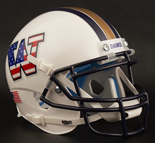 - Schutt Washington Huskies NCAA XP Authentic Mini Football Helmet Flag Stars/Stripes
