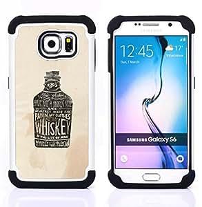 For Samsung Galaxy S6 G9200 - WHISKEY BROWN DRUNK DRINKING PARTY Dual Layer caso de Shell HUELGA Impacto pata de cabra con im??genes gr??ficas Steam - Funny Shop -