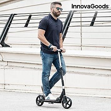 InnovaGoods IG115984 Patinete Plegable, Unisex Adulto, Negro, Talla Única