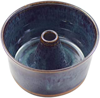 "product image for American Made Stoneware Pottery Petite Pound Cake Baker, 6.5"" (Midnight Blue)"