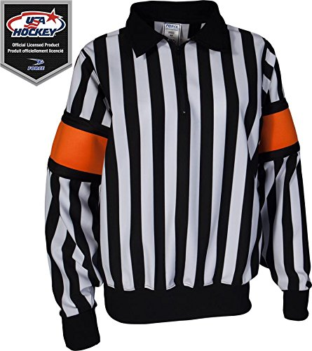 Force Pro Referee Jersey w/ Orange Armbands [WOMENS] (Referee Hockey Pro Jersey)