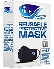 Fine Guard Comfort Adult Face Mask With Livinguard Technology, Infection Prevention – Size Medium