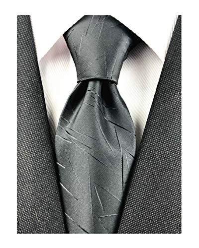 Black Tie For Men Premium Slim Jacquard Neck Tie High-End Elegantly Designed Hand-Woven Silk-Like Texture Necktie