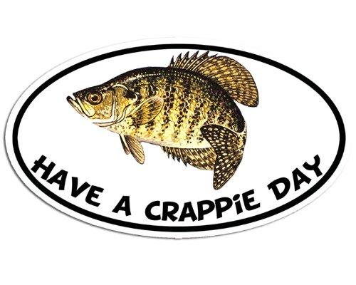 Oval Have A Crappie Day Sticker (fish fishing brim bream (Crappie Decal)