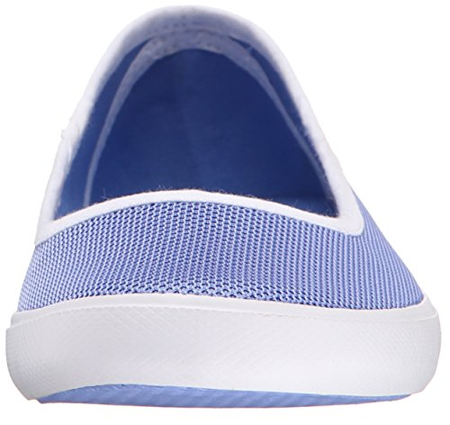 Lacoste Women's Marthe Slip on 216 1 Flat, Blue, 5.5 M US
