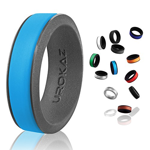 UROKAZ - Silicone Wedding Ring, The Only Ring that Fits Your Lifestyle - Whether You are Single or Married, UROKAZ Ring is Right for You - It is Fashionable, Flexible, and Comfortable (Processor Active)