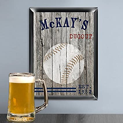 Creative Structures Personalized 12u0026quot; Collectible Traditional Series    Baseball   Sports Man Cave, Den