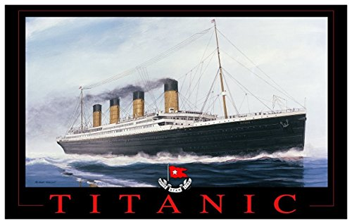 Titanic Red Letters Travel Art Print Poster by Richard DeRosset (12