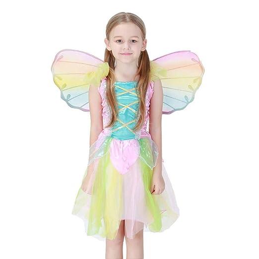 Kmjj Girl Disfraz Lindo Arcoiris Vestido de Mariposa Colorida con ...