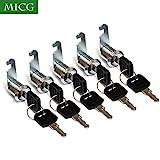 BONA 5pcs/lot Cam Cylinder Lock Security Drawer Door Mailbox Cabinet Tool Box Lock 2 Keys Hardware Locks (Keyed Alike 20mm)