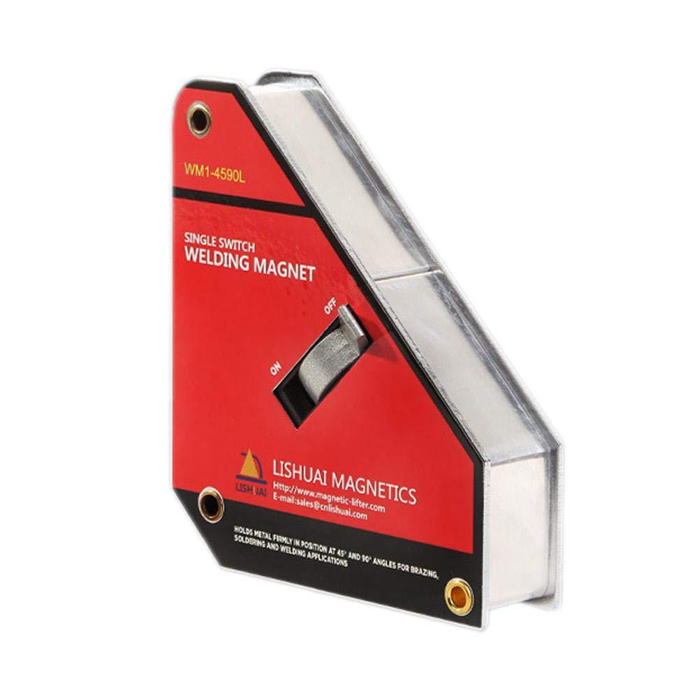 Bulary Starker Einzelner Schalter Neodym-Schwei/ßens-Magnet-Halter-AN//AUS-Schalter-magnetische Klammer//Magnet-Quadrat 45 90 Grad 1Pcs
