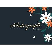 "Autograph Book: Signatures Blank Scrapbook, Keepsake Memory Book, Signature Celebrity Memorabilia Album Gift, 8.25"" x 6…"