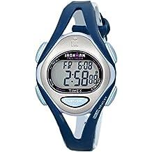 Timex Women's T5K451 Ironman Sleek 50 Mid-Size Dark Blue/Gray Resin Strap Watch