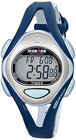 Timex Women's T5K451 Ironman Sleek 50-Lap Blue Resin Strap Watch - Timex Water Resistant Watch