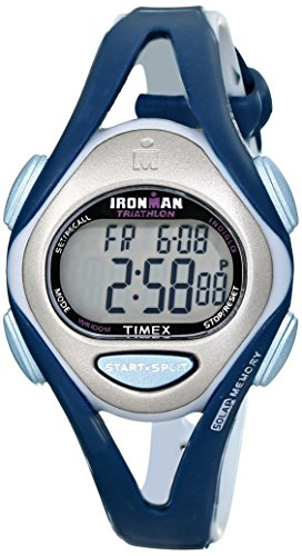 Timex Women's T5K451 Ironman Sleek 50-Lap Blue Resin Strap Watch - Watches Timex Women