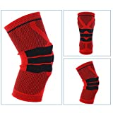 3D Knitting Knee Protection Wear Silica Gel Protective Impact Pad Insert Breathable Compression Knee Support Brace Sleeves