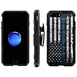 "iPhone 7Plus/8Plus [5.5"" Screen] Defender Cover [ArmorXtreme] [Black/Black] Heavy Duty Warrior [Holster] [Kick"